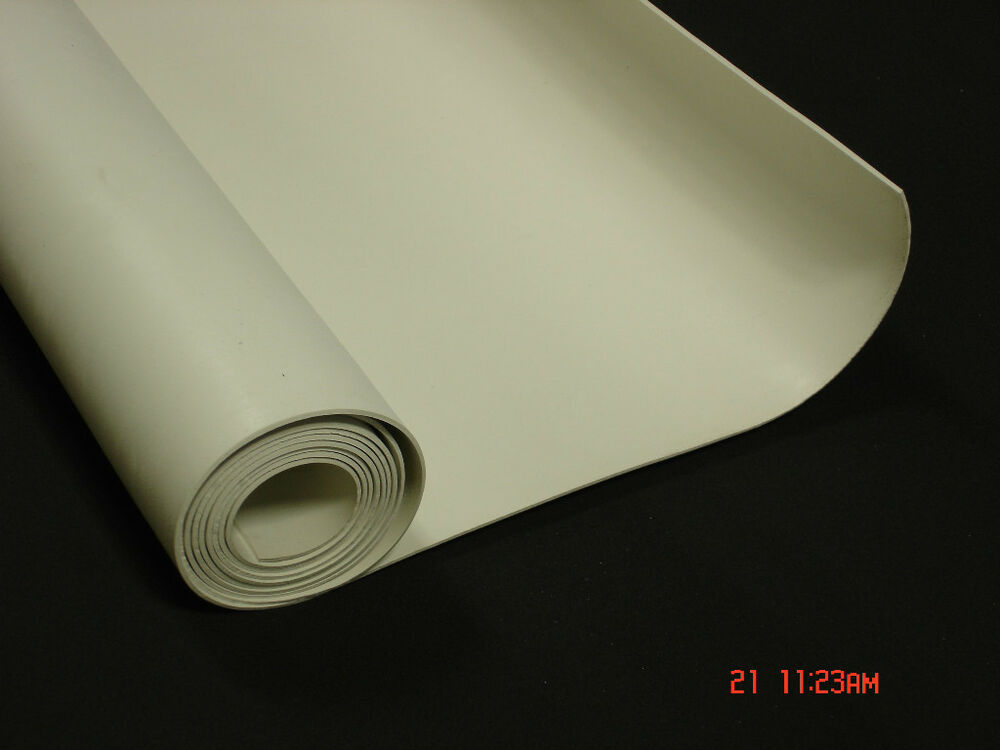 1 8 Quot White Fda Nitrile Rubber Sheet X 36 Quot Wide 3 Ft Ebay