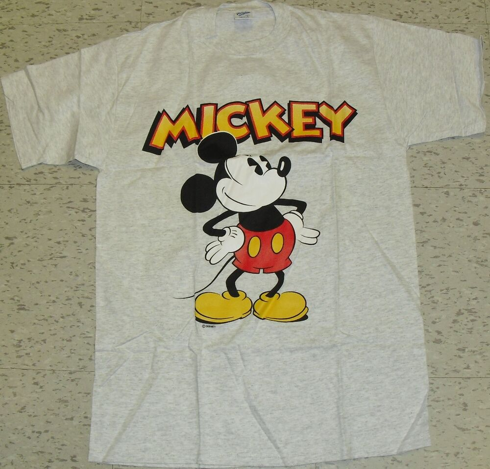 Vintage 90s mickey mouse disney t shirt brand new sz for Oversized disney t shirts