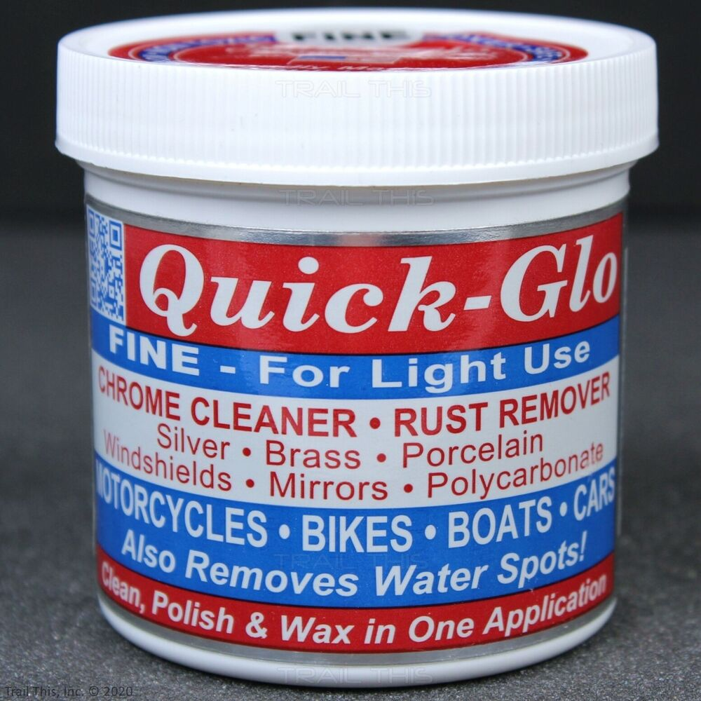 Chrome Cleaner For Cars : Quick glo fine light use chrome cleaner rust remover