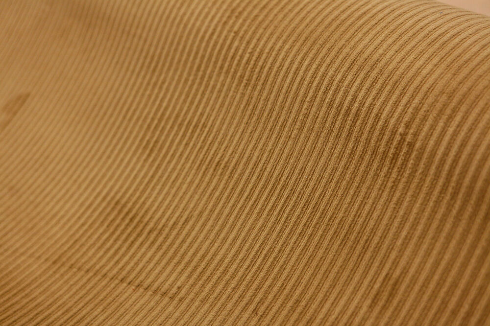 Suede Upholstery Fabric >> Tan Light Brown Microfiber Corduroy 3 Wale Upholstery Fabric By The Yard 54 Inch | eBay