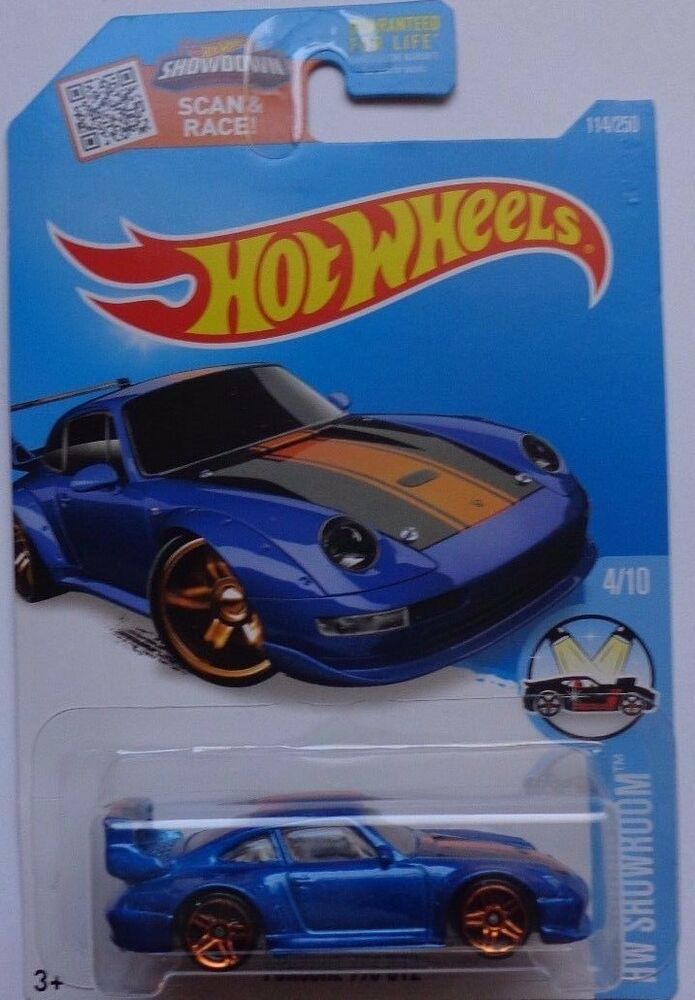 2016 hot wheels hw showroom 4 10 porsche 993 gt2 114 250 blue version ebay. Black Bedroom Furniture Sets. Home Design Ideas