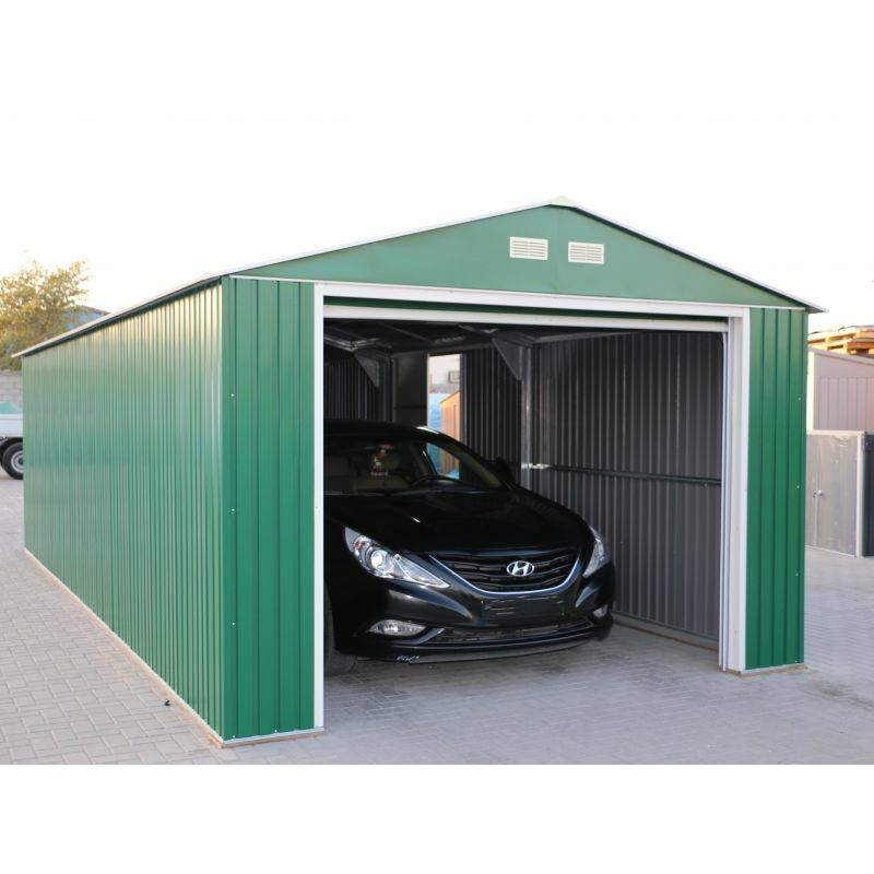Duramax 12x26 Imperial Steel Storage Garage Kit Green