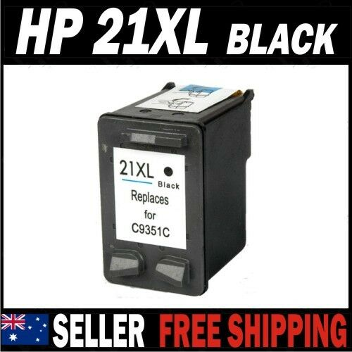 1x black ink for hp 21 21xl c9351ca deskjet f370 f380 f4100 f4140 f4180 f4185 ebay. Black Bedroom Furniture Sets. Home Design Ideas