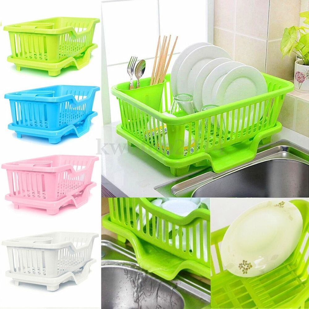 Washing Hair With Dish Soap To Remove Color: 4-Color Kitchen Dish Sink Drainer Drying Rack Wash Holder