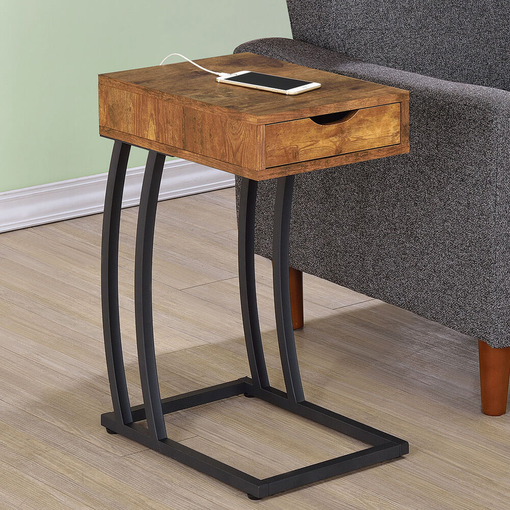 Wood Side Tables ~ Accent snack side chairside table stand drawer outlet