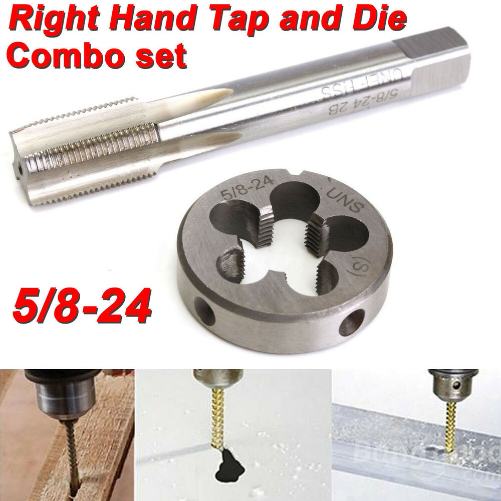 5 8 24 unef hand tap round die set hss right hand tapping hand cutting tool ebay. Black Bedroom Furniture Sets. Home Design Ideas