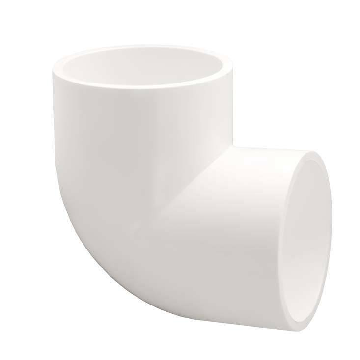 Pvc degree elbow pipe fitting socket slip inch