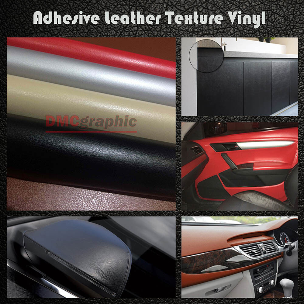 special leather texture vinyl wrap film semi adhesive sticker for car body panel ebay. Black Bedroom Furniture Sets. Home Design Ideas
