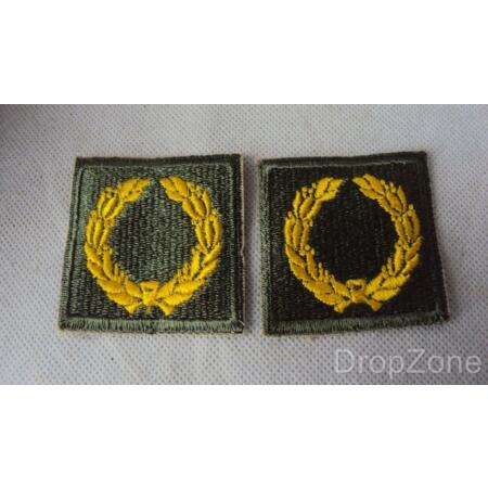 img-Pair WWII US Army Meritorious Service Unit Insignia Badges, Class A, Type I