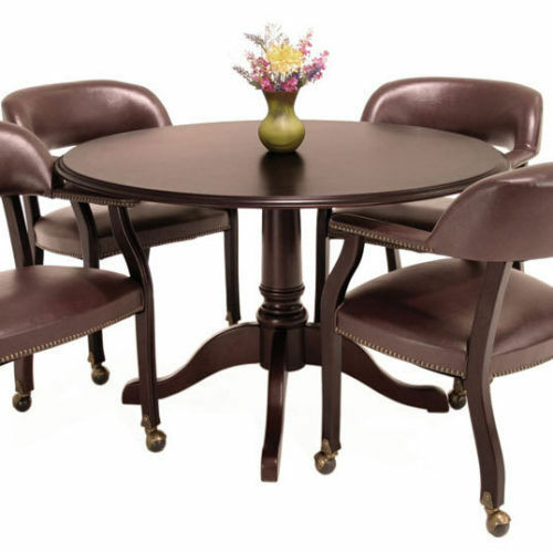 Table Chairs: TRADITIONAL ROUND CONFERENCE TABLE AND CHAIRS SET Meeting