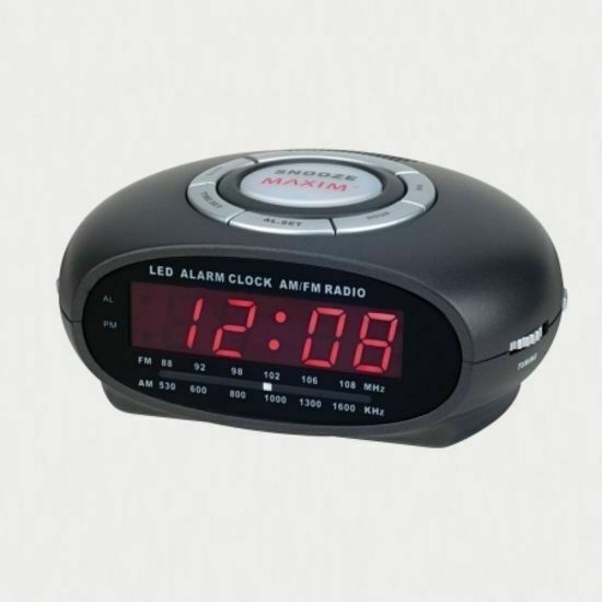 am fm table alarm clock radio with night light ebay. Black Bedroom Furniture Sets. Home Design Ideas