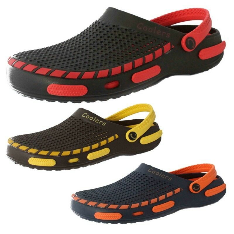 Mens Unisex Coolers Rubber Slip On Clogs Garden Shoes Shower Mules Beach Sandals | EBay