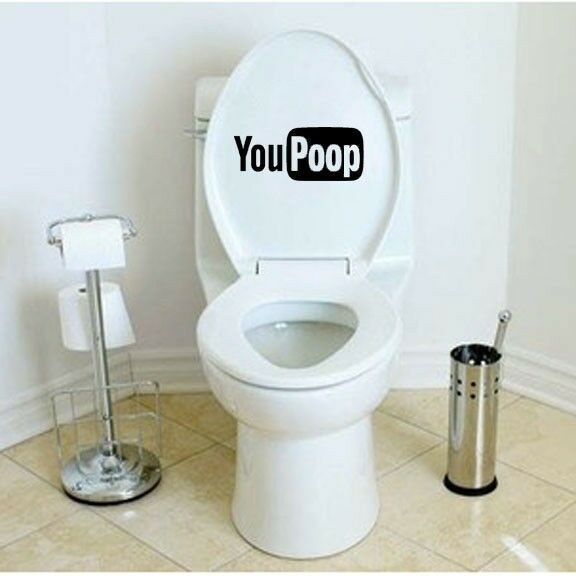 Funny YouPoop Toilet Seat Decal/Sticker Mural Art Bathroom ...