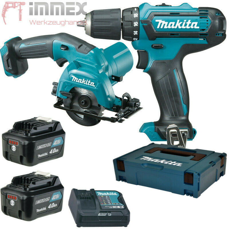 makita akku bohrschrauber 10 8v df331dsmj hs301 hs301dy1j combo set ebay. Black Bedroom Furniture Sets. Home Design Ideas