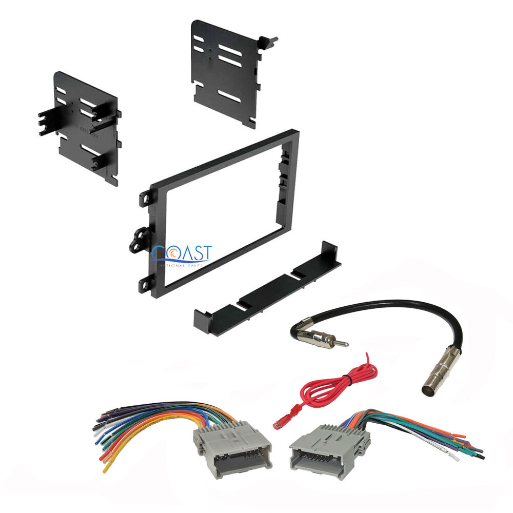 Car Stereo Double Din Dash Kit Harness Antenna For 1992