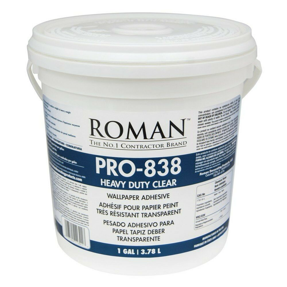 Roman 011301 pro 838 1 gal heavy duty wallpaper adhesive for Wallpaper paste home depot