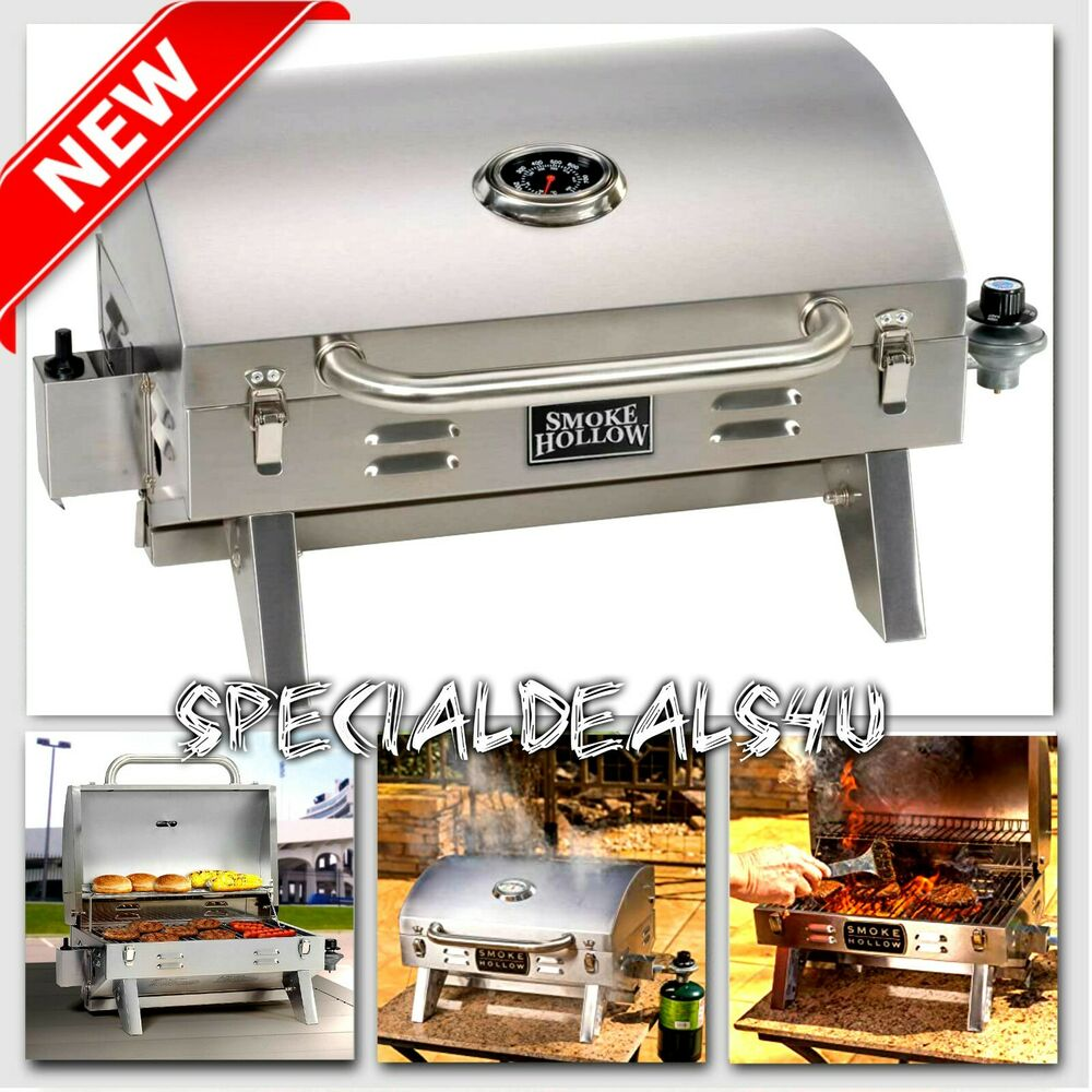 Stainless steel propane gas grill portable table top bbq