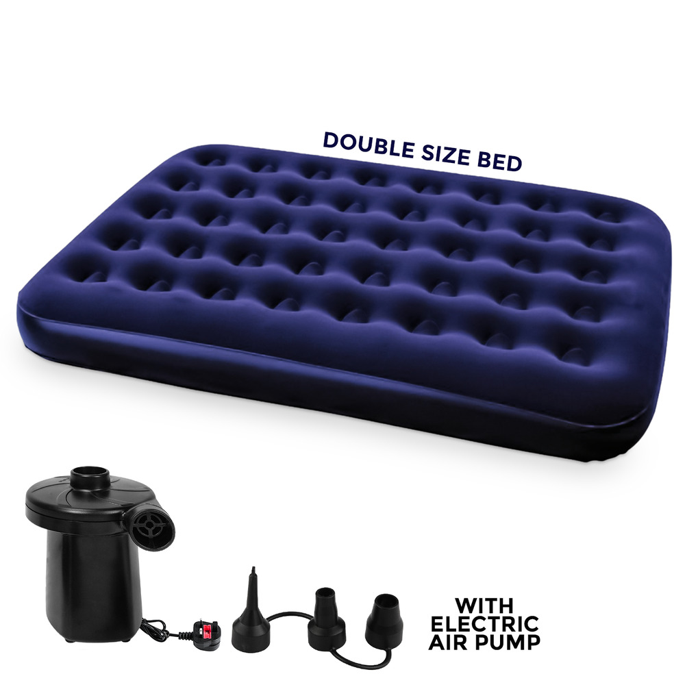 Bestway Double Inflatable Flocked Air Bed Camping Mattress