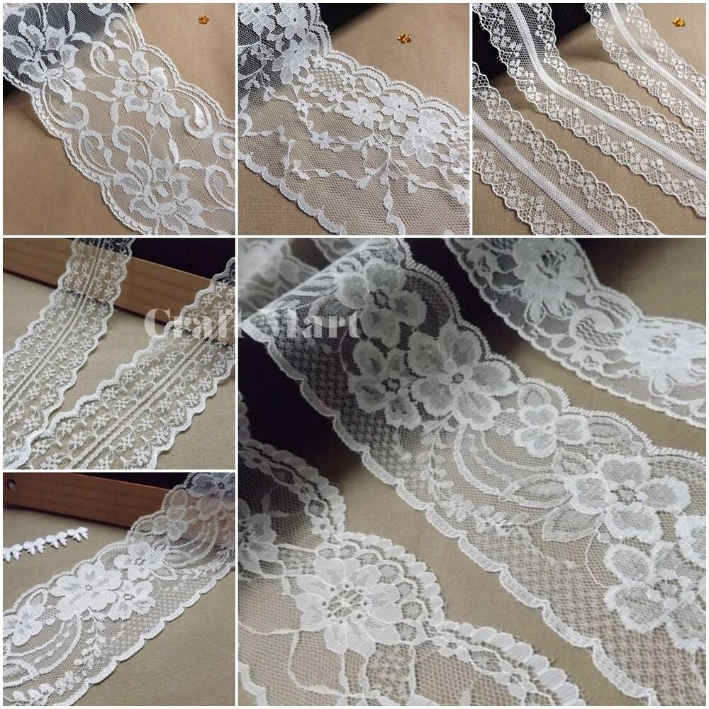 Vintage antique off white ivory lace ribbon wedding trim for Ivory vintage lace wedding dress