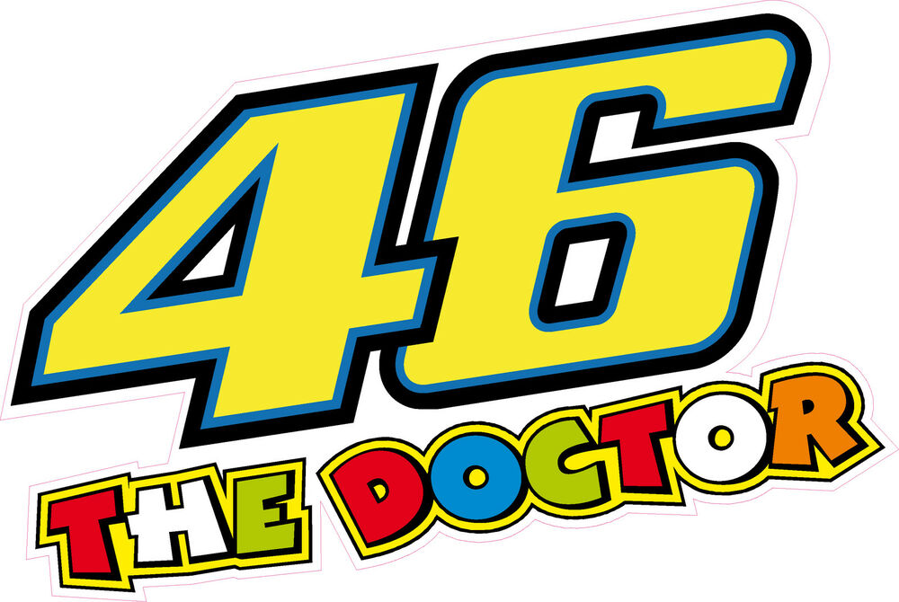 46 the doctor valentino rossi 175mm sticker decal quality motorcycle vector png motorcycle vector art