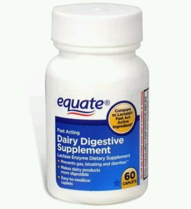 Equate Fast Acting Dairy Digestive Supplement Lactase ...