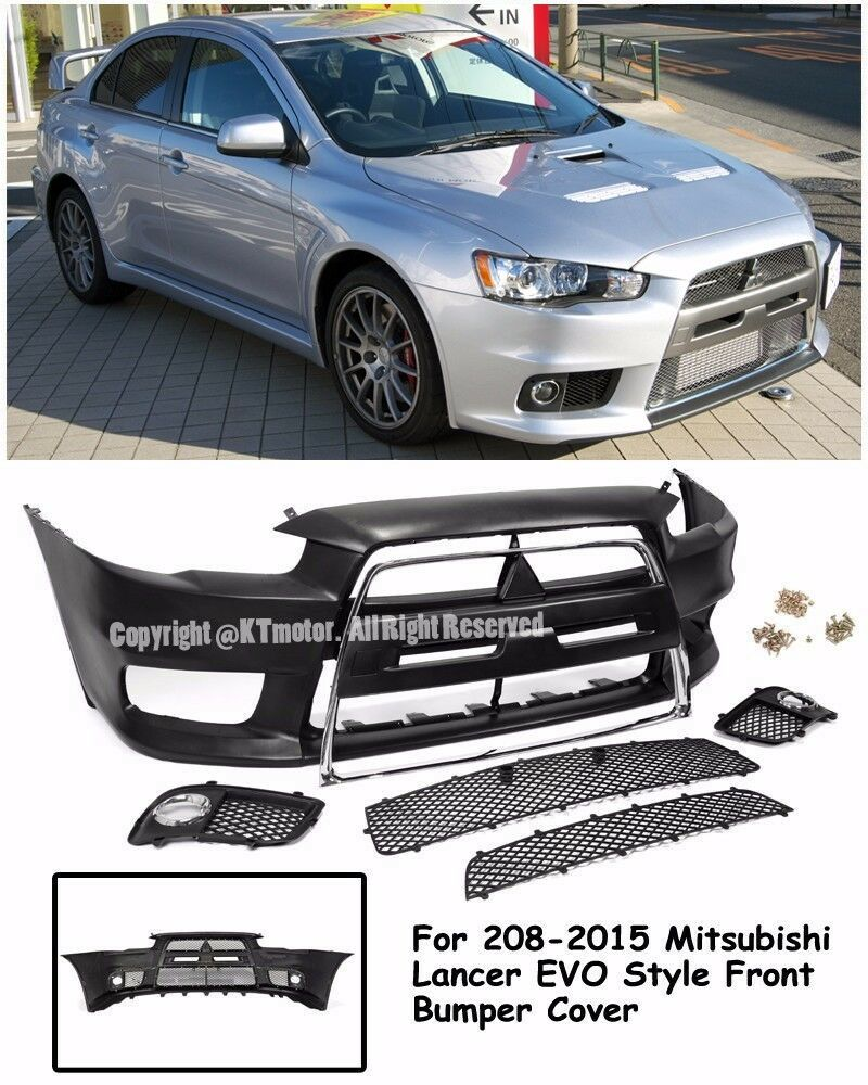 EVO X 10 JDM Style Front Chrome Trim Bumper Cover For 08