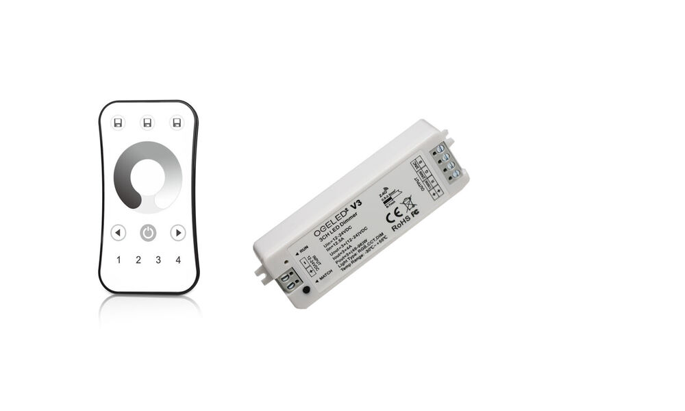 Led dimmer mit fernbedienung led dimmer mit funk for Koch 4 kanal funk dimmer