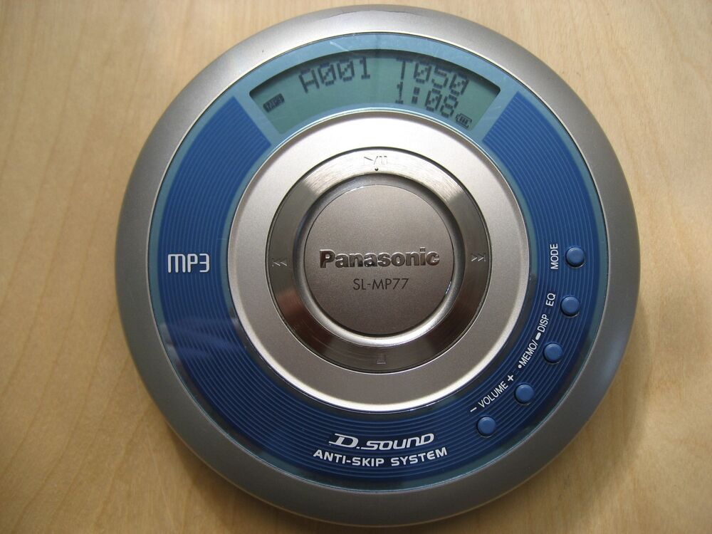 panasonic sl mp77 portable cd player mp3 ebay