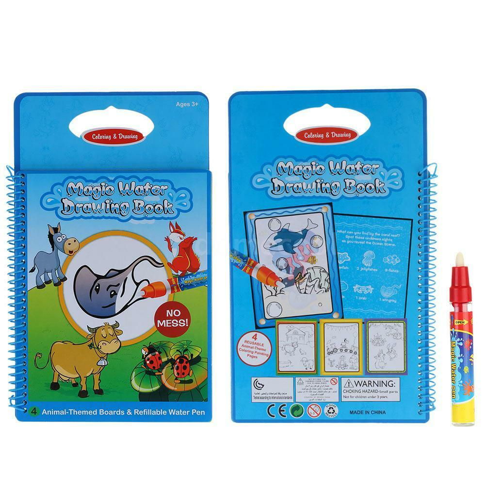 Magic Water Drawing Book Coloring Book Doodle w Magic Pen