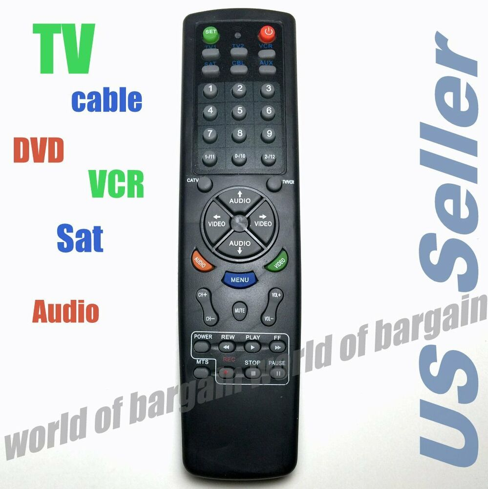 universal tv remote control 6 in 1 dvd cable vcr replace broken controller e066 ebay. Black Bedroom Furniture Sets. Home Design Ideas