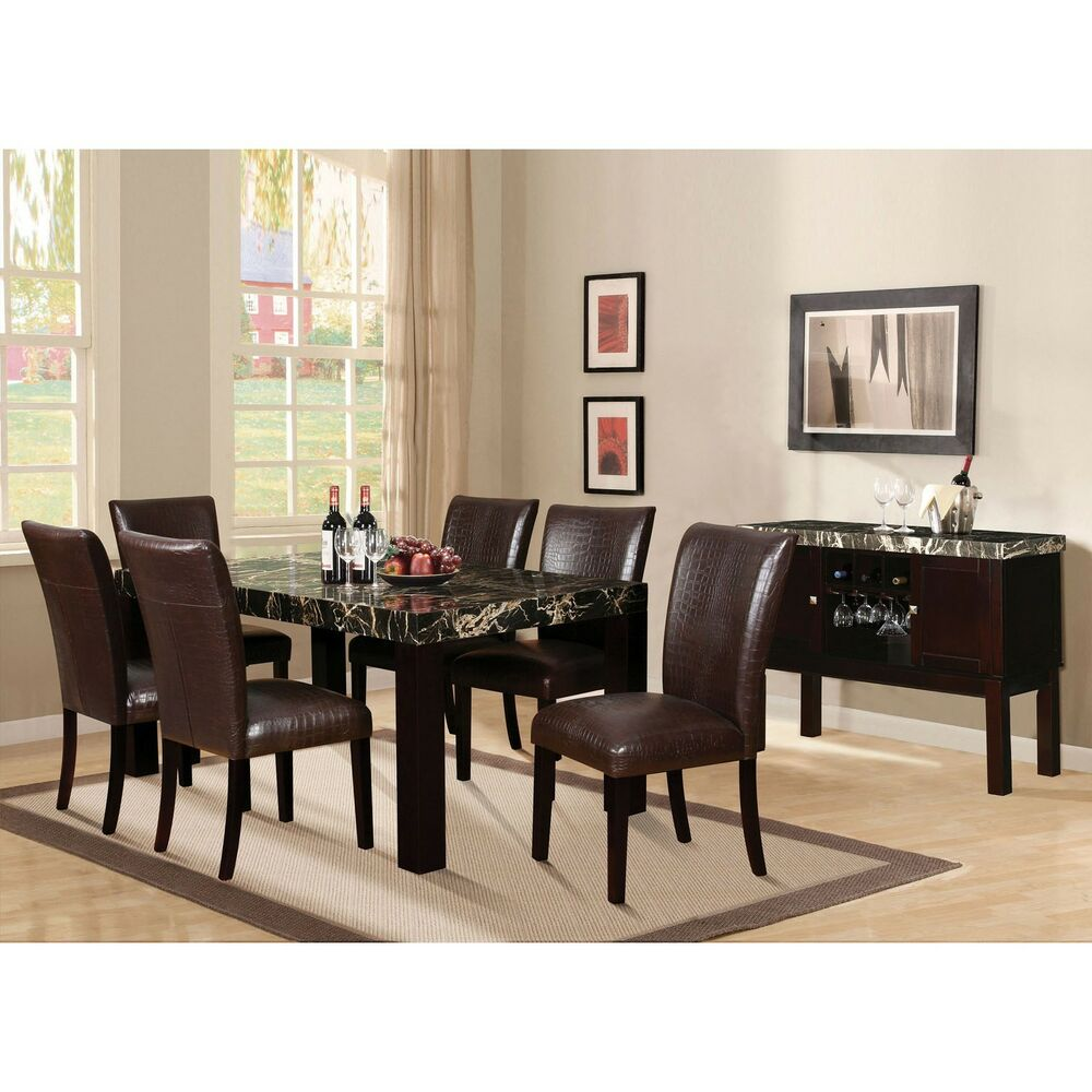 Adolph Modern Desing Furniture Dining Room Black Faux
