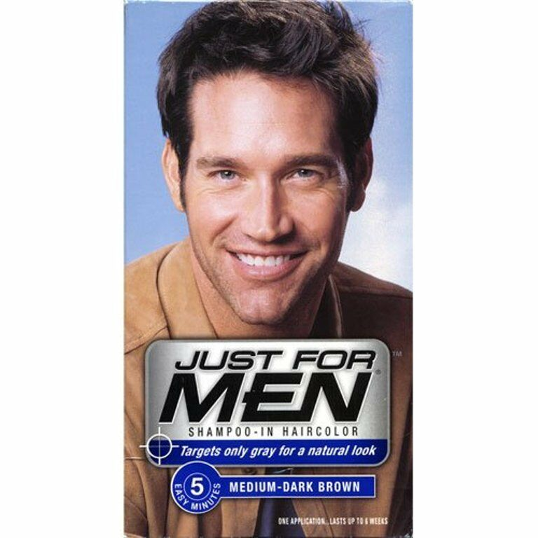 Just For Men Shampoo In Hair Color Medium Dark Brown H 40 Pack Of