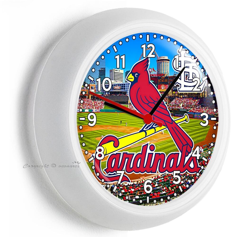 st louis cardinals mlb baseball team wall clock man cave garage turned into tv room tv room above garage
