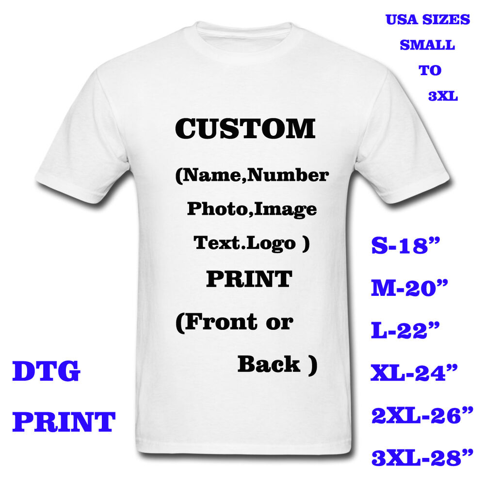 personalized t shirt custom your text printed many colors shirts ebay. Black Bedroom Furniture Sets. Home Design Ideas