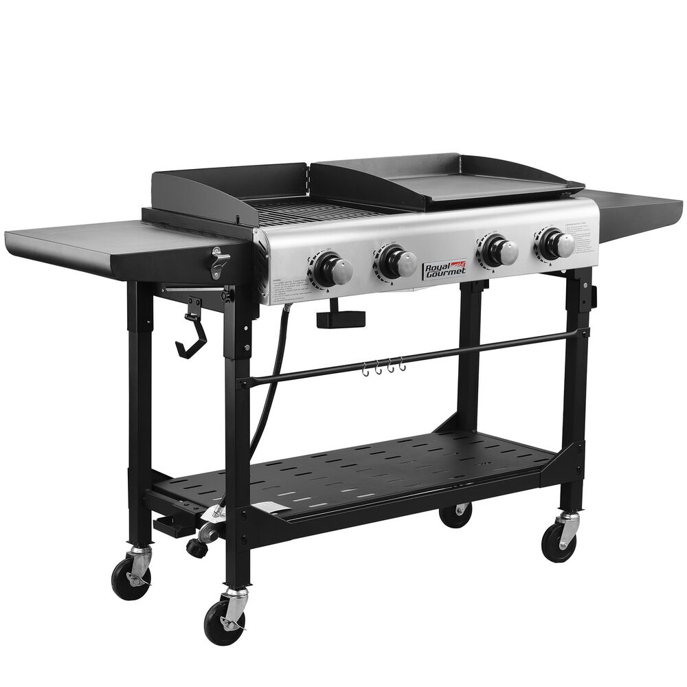 royal gourmet premium gd401 outdoor 4 burner propane gas grill and griddle ebay. Black Bedroom Furniture Sets. Home Design Ideas