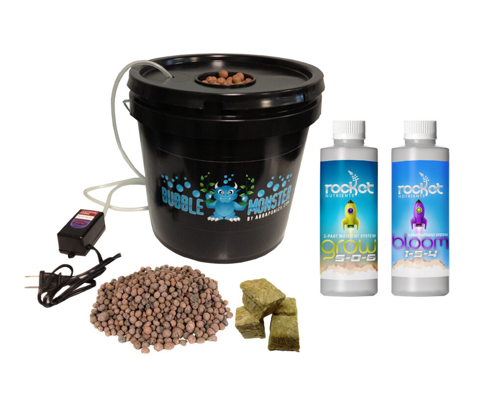 hydroponic grow system complete grow system 1 site dwc hydroponic kit ebay. Black Bedroom Furniture Sets. Home Design Ideas