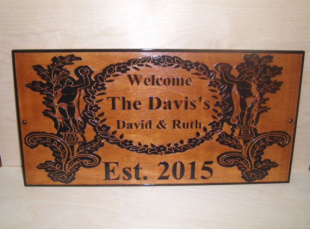 Personalized-Family-Last-Name-Sign-Couple Wedding Gift Laser Engraved ...