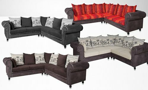 big sofa m bel couch l form afrika 2 65x2 65 kolonialstil hocker neu m bel neu ebay. Black Bedroom Furniture Sets. Home Design Ideas
