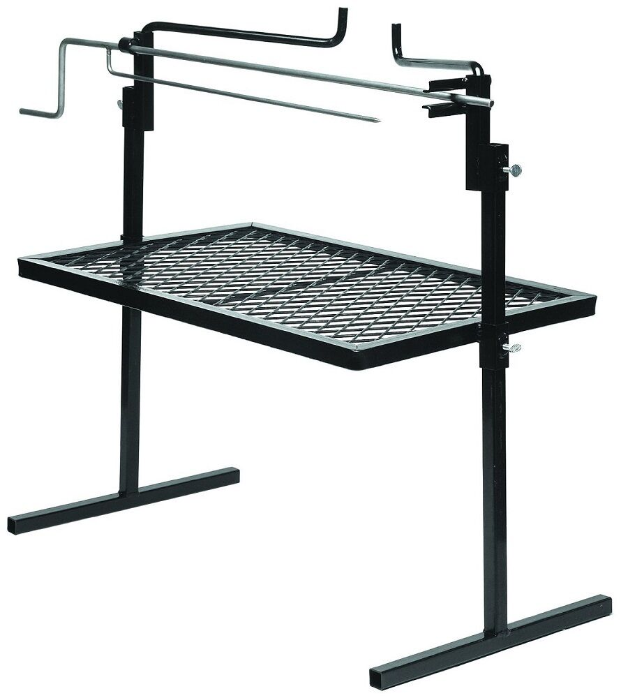 camping rotisserie grill bbq spit rack cooking fire pit. Black Bedroom Furniture Sets. Home Design Ideas