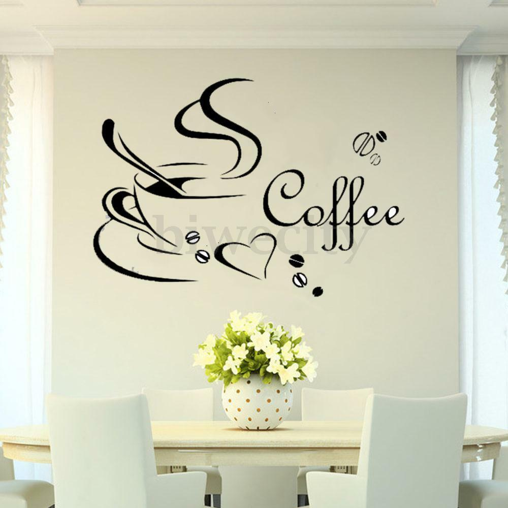 Kitchen Wall Vinyl: Coffee Cup DIY Removable Art Vinyl Wall Sticker Decal