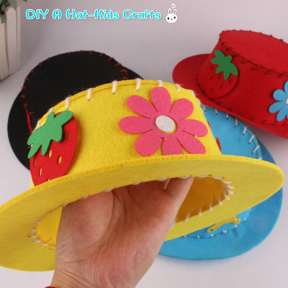 1pc or 2pcs make your own hat diy woolen felt children top for Crafts that sell on ebay