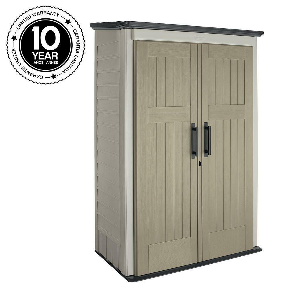 home depot outdoor storage cabinets rubbermaid 3 ft x 4 ft large vertical sheds garage 16484