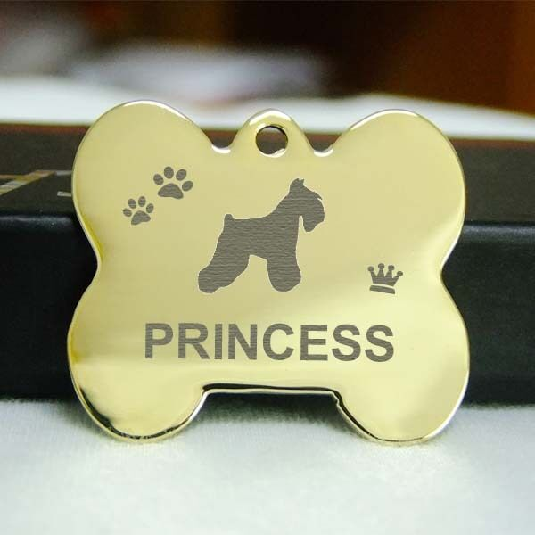 Fat Bone Deep Engraved Pet Id Tags Stainless Steel Dog Tag