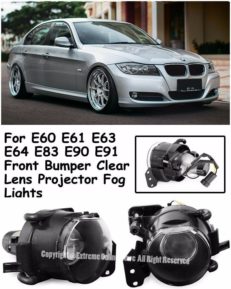 M3 M5 Style Projector Fog Lights Lamps For 04-11 BMW E90 3