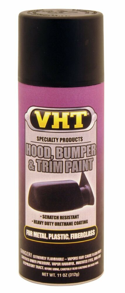 vht hood bumper trim paint black for plastic fiberglass ebay. Black Bedroom Furniture Sets. Home Design Ideas