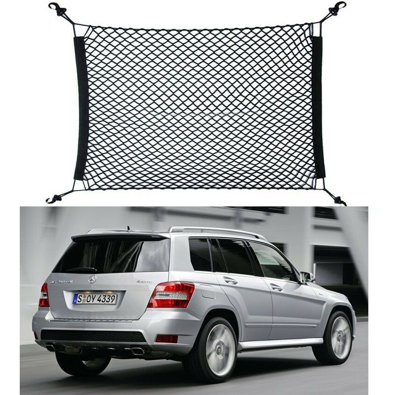 Car trunk cargo luggage net holder net hold for benz for Mercedes benz cargo net