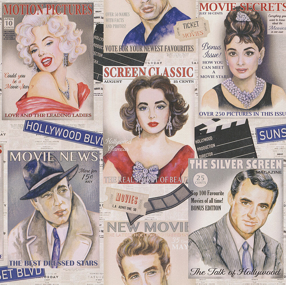 Rasch tapete retro tapete icons hollywood james dean marilyn eur 1 74 - Papier peint maryline monroe ...