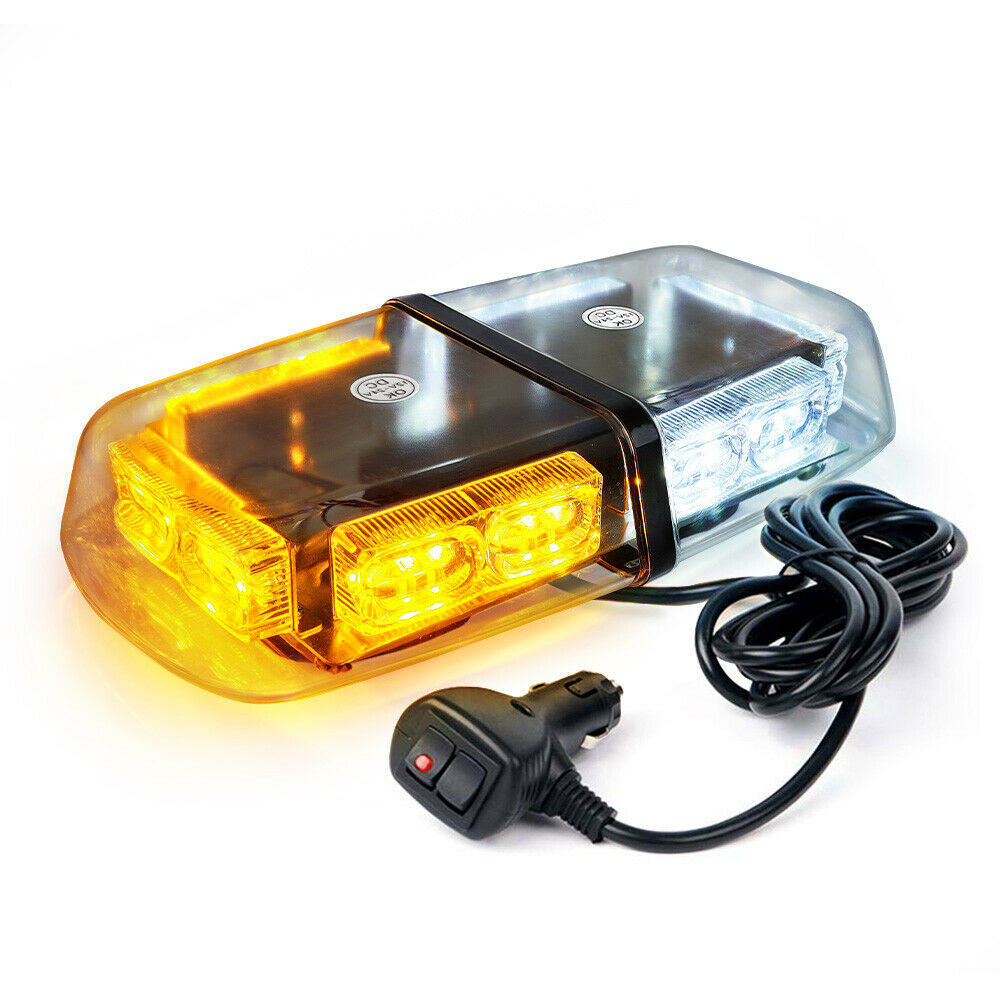 white amber yellow 36 leds light bar roof top mini beacon warning flash strobe ebay. Black Bedroom Furniture Sets. Home Design Ideas
