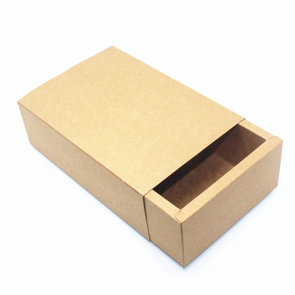 Kraft paper drawer box gift handmade soap craft jewelry for Kraft paper craft tubes
