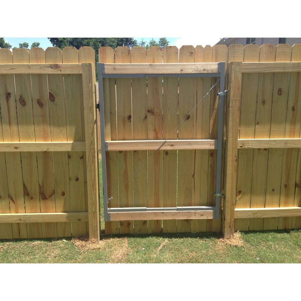 how to build a fence gate frame